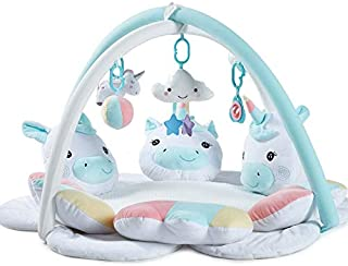 Q Baby Play Mat, Soft Unicorn Baby Rack Play Mat Baby, Plush Play Mat For Baby for Bedroom Living Room Games Room (Color :...