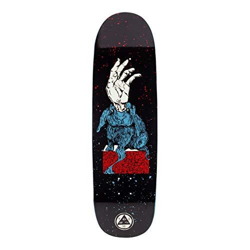 Welcome Skateboards Magic Bunny - Tavola da skateboard a forma di boline, colore nero, rosso, blu, 23,5 cm