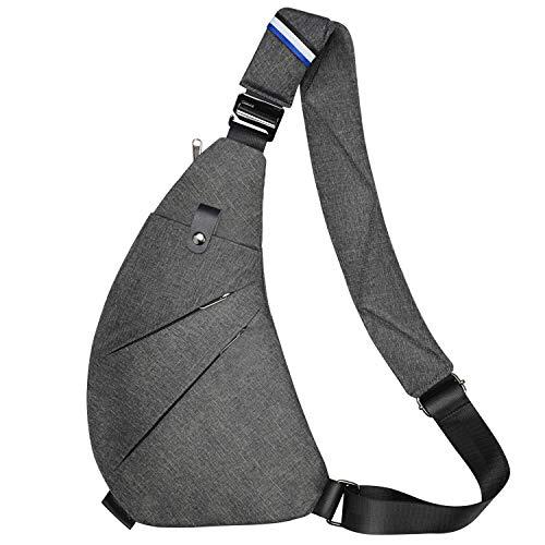 Sling Bag Chest Backpack Casual Daypack Shoulder Crossbody Lightweight Anti Theft Outdoor Sport Travel Hiking for Men Women