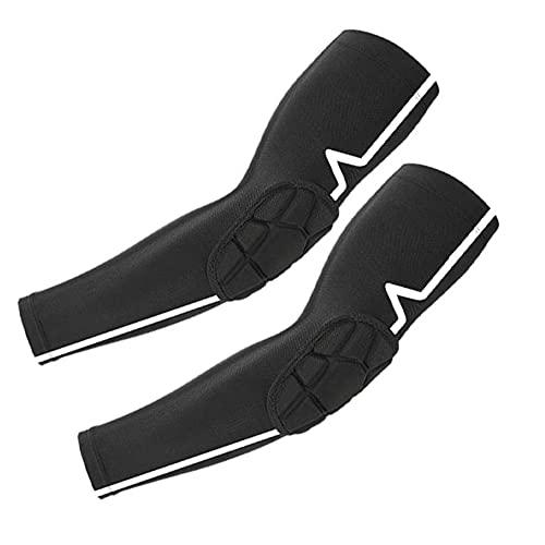 Fietsen Elleboog Protector Riding Arm Mouwen Compressie Elleboog Brace Impact Ondersteuning Bescherming voor Arm Bescherming Zwart 1 Paar XL Bike Accessoires