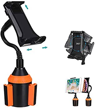 MIAODAM 360-Degree Swivel Adjustable Car Cup Holder Phone Mount