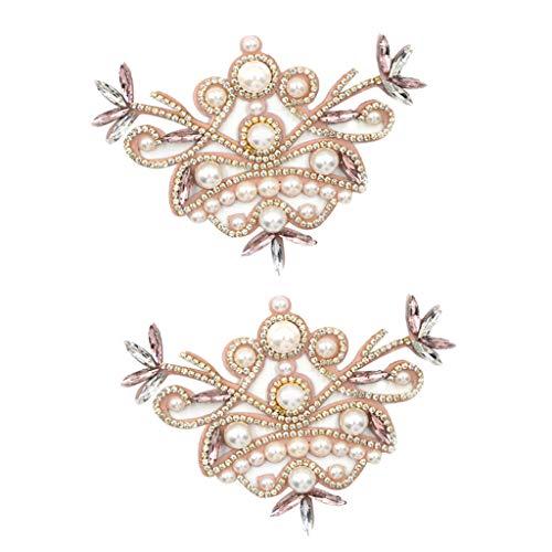 harayaa 1 Par de Zapatos de Cristal con Diamantes de Imitación para Mujer, Zapatos de Novia, Adornos, Joyería