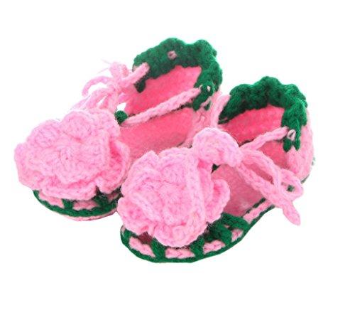 Bigood Chausson Bébé Chaussure Tricot Sandales Main-Tissage Souple