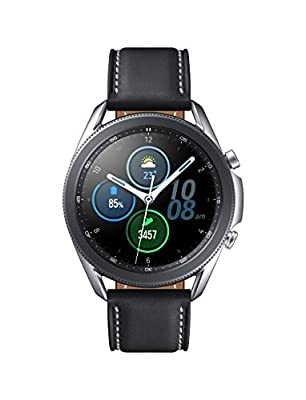Samsung Galaxy Watch 3 (45mm, GPS, Bluetooth) Smart Watch with Advanced Health monitoring, Fitness Tracking , and Long lasting Battery - Mystic Silver (US Version) from Samsung