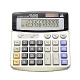 BAIYOU oficina escritorio calculadora, Solar y batería Dual Power electrónico calculadora portátil pantalla LCD grande de 12 dígitos calculadora