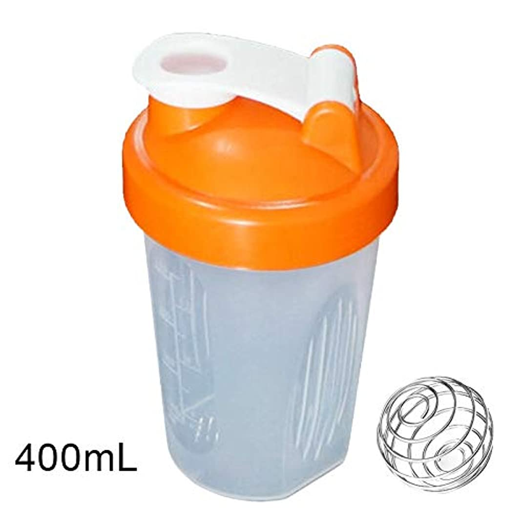 オプション葉っぱ水族館Tuonar 400 / 600ml蛋白質の粉の混合のコップは感動的な球が付いている漏出防止の振動ボトルを密封しました