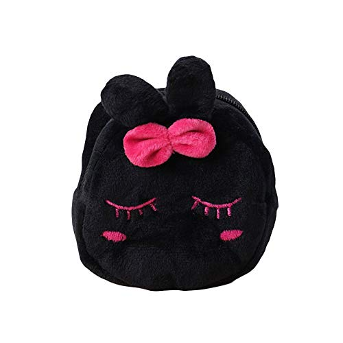 Plush Backpacks - Cute Plush Panda Animal Small Coin Purse Zipper Money Wallet Kids Birthday Gift Cartoon Dollar Money Bag - by TimothyEU - 1 PCs