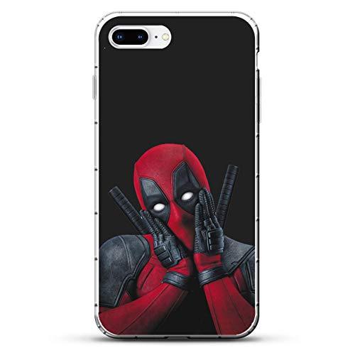 X-Art Transparent Case for Apple iPhone 7 Plus/8 Plus, Anti-Deadpool X-Weapon 5 Fundas Slim Silicone Liquid Flexible Cover