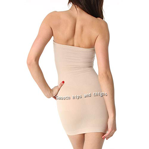 Aha Moment N-fini Womens Lycra Strapless Slip Shaperwear Underwire Soft Bra