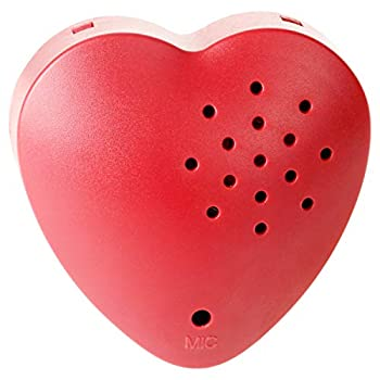 EKSEN Heart Voice Recorder 30 Seconds Voice Recorder for Stuffed Animals Plush Toy Baby Dolls etc Easy to Record Perfect Sound Box for Voice Gifts  Heart-Recorder Red - 1 Pack