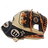 Wilson A2000 1786 11.5-Inch Custom Exclusive Infield Baseball Glove, Blonde Tan/Dk. Brown/Saddle Tan Brown Laces, Cross Embroidery (Right Hand Throw)