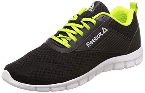 Reebok Men's Future Stride Run Black/Lime Shoes-9 UK/India (43 EU)(10 US) (DV8404)