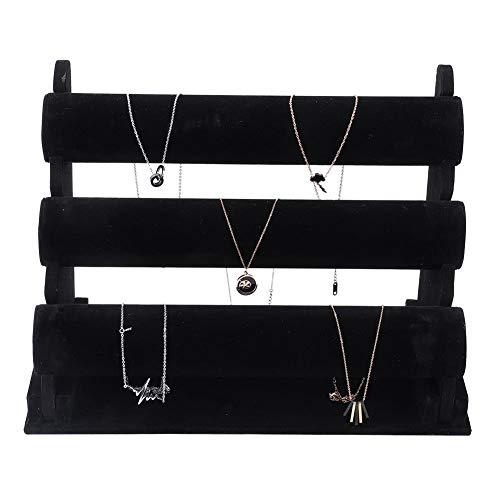 3-tier horloge armband displaystandaard, houder voor sieradenstandaard, opbergdoos voor sieraden (velet)