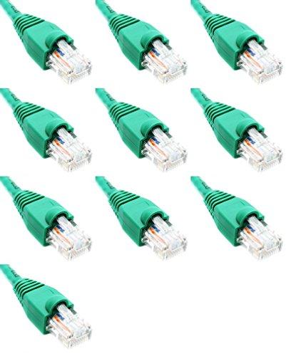 Ultra Spec Kabels Pack van 10 - Groen 2FT Cat6 Ethernet Netwerk Kabel Lan Internet Patchkabel RJ45 Gigabit