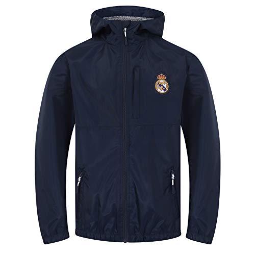 Real Madrid - Jungen Wind- und Regenjacke - Offizielles Merchandise - Geschenk für Fußballfans - 10 Jahre