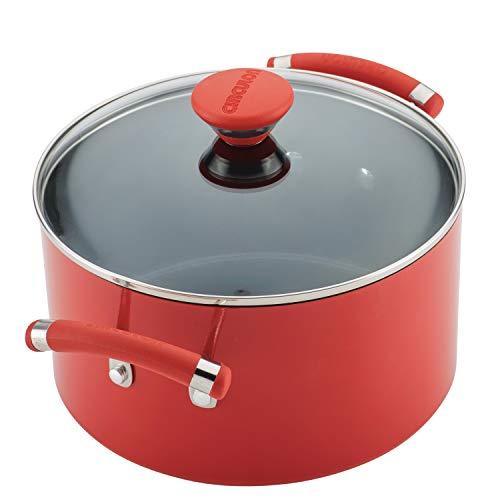 Circulon Acclaim Nonstick Cookware Pots and Pans Set, 15 Piece, Red