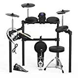 LAGRIMA LAG-700 Electric Drum Set Electronic Kit with 5 Drums 3 Cymbals, Electric Drum with Solid Support, Drum Stick