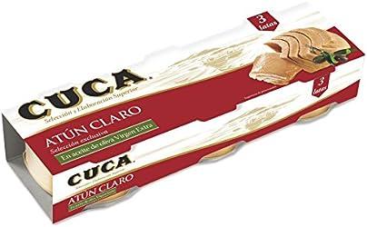 Cuca Atún Claro en Aceite de Oliva, 3 x 65g