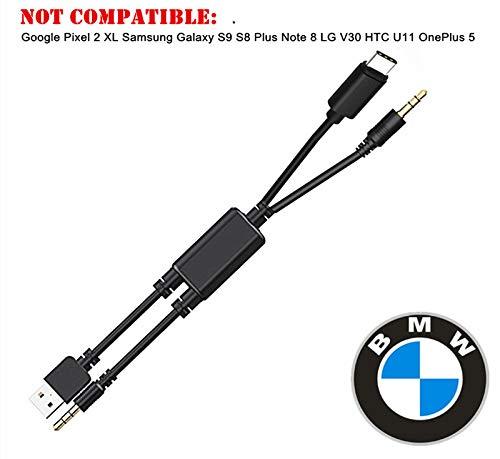 KFZ-Typ C 3,5 mm AUX-Kabel, Musik-Audio-Ladeadapter, kompatibel mit Huawei, Motorola Moto Z, LeEco Le S3/2 Pro für ausgewählte Modelle BMW Mini Cooper Mercedes Kia Hyundai Toyota Honda