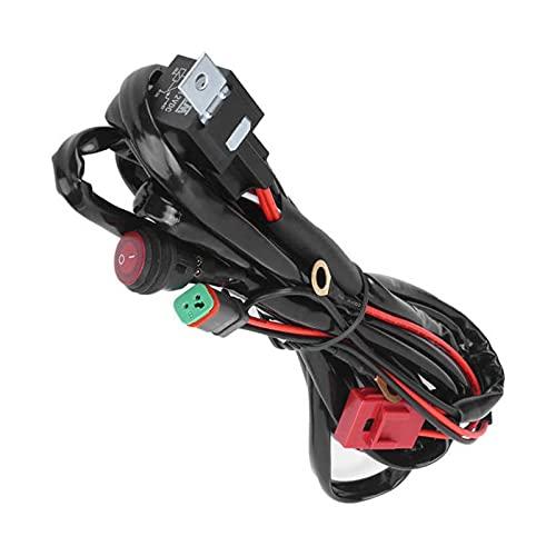 Qinndhto Adaptadores Sockets DIRIGIÓ Arnés de cableado de luz de Punto 4 0A 12V IP67 Impermeable con DT Conector Apto para A Vs Utah Vs Coches Adaptadores