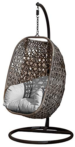 SunTime Brampton Rattan Wicker Outdoor Hanging Cocoon Egg Swing Chair