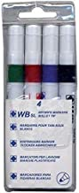 4 Whiteboard Drywipe Marker Pens Bullet Tip Non-Toxic Ink