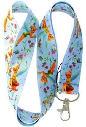 Blue Tinkerbell Lanyard Key Chain Holder