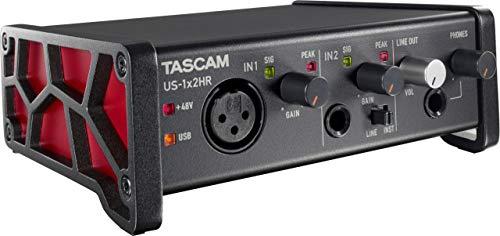 Tascam Interfaz de audio USB versátil US-1x2HR 1 Mic 2 IN/2OUT de...
