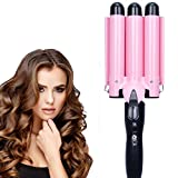 3 Barrel Curling Iron Wand 25mm Hair Waver Curling Iron Temperature Adjustable Portable Ceramic Hair Curling Iron Heats...