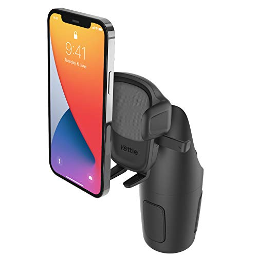 iOttie Easy One Touch 5 Cup Holder Universal Car Mount Phone Holder for iPhone, Samsung, Moto, Huawei, Nokia, LG, Smartphones
