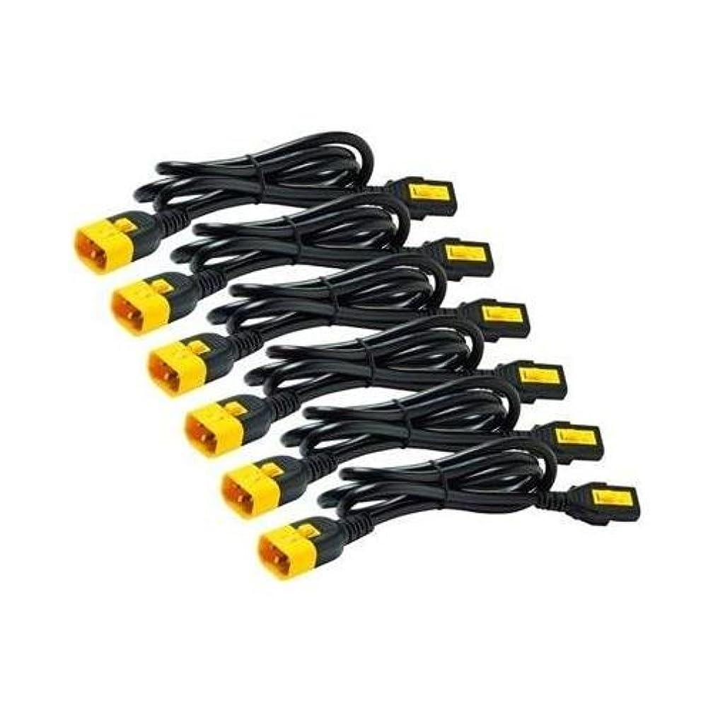 APC AP8702S-NA 10A Power Cord Kit Locking C13 to C14 0.6m Cable
