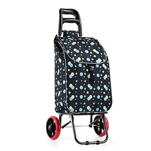 WLG Shopping Carts Für Lebensmittel Mit Rädern Kofferkuli Trailer Haushalt Falten Tragbarer Wagen/A