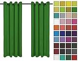 Rollmayer Vorhänge Schal mit Ösen Kollektion Vivid (Grün 25, 135x150 cm - BxH) Blickdicht Uni einfarbig Gardinen Schal für Schlafzimmer Kinderzimmer Wohnzimmer