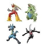 4 Piezas Pokemon Anime Figura Muñecas...