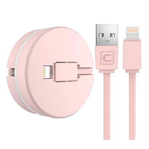 Cable de carga para los dispositivos de Ipone Línea ajustable del USB en casero / coche-Rosado