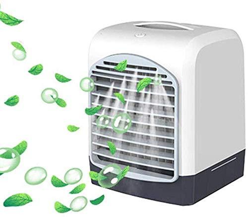 Mini Aire Acondicionado refrigerado por Agua con USB Recargable,Ventilador eléctrico Ultra silencioso portátil,humidificador de enfriamiento con Enfriador por pulverización para la Oficina doméstica