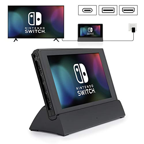 Switch TV Dock, VOGEK Replacement for Nintendo TV Dock Station Portable Charging Docking Playstand for Nintendo Switch Charge (Black)