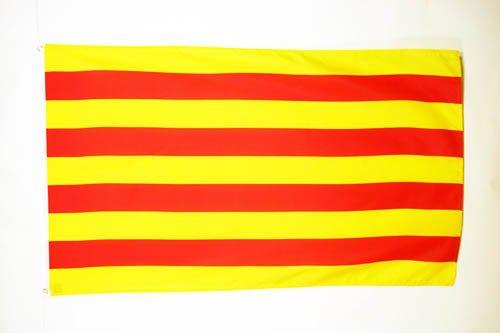 AZ FLAG Flagge KATALONIEN 90x60cm - KATALONIEN Fahne 60 x 90 cm - flaggen Top Qualität