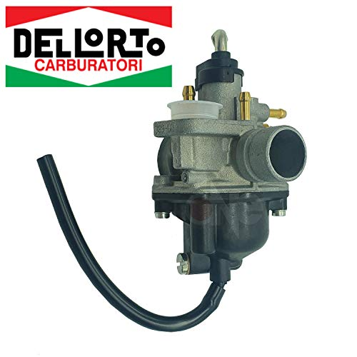 one by Camamoto cod 77110218 Carburador dellorto PHVA 17,5 TS (1389) con mezclador / depresor / aire / conexión automática de estrangulador compatible con yamaha -mbk-malaguti- minarelli