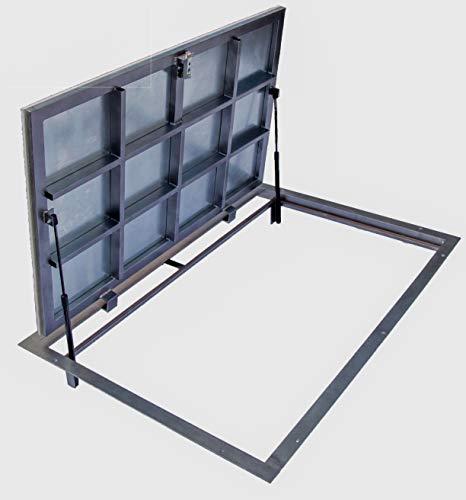 Trampilla de suelo 800 mm x 1200 mm(P) – Bisagras laterales, Tapa...