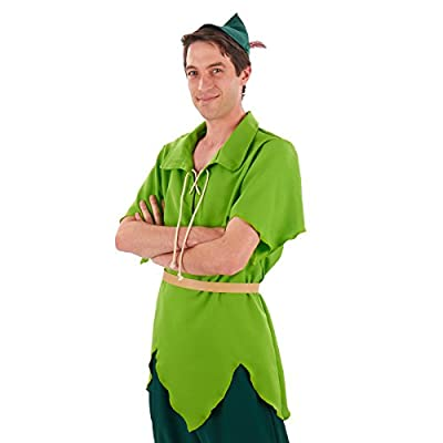 Men's Classic Peter Pan Costume (Large/XL) Green