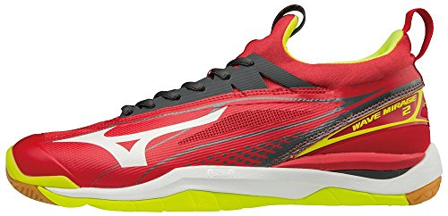Mizuno Herren Wave Mirage 2 Laufschuhe, 91 Marsred White Syellow, 42 EU