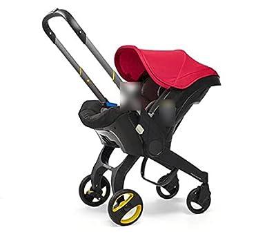 HZPXSB Cochecito de bebé 3 en 1 con Asiento de automóvil Baby Baby BABSSET High Larjetos Plegables Carrups de cochecitos para recién Nacidos Paisaje 4 en 1 (Color : Red)