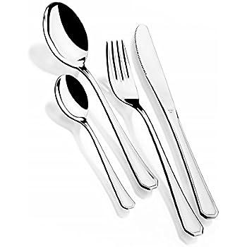 Monix Venecia - Set de cubiertos 75 piezas, cubiertos de acero inox 18/10, estuche y cuchillo normal: Amazon.es: Hogar