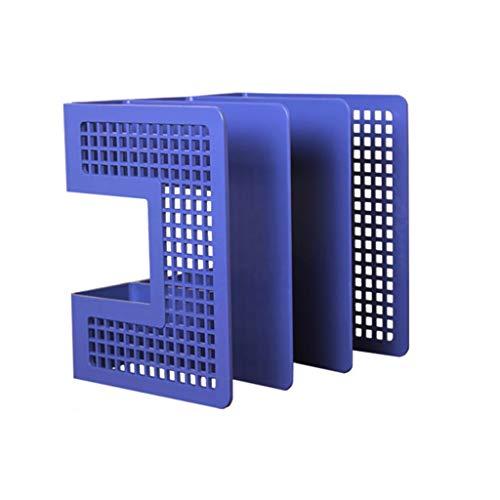 JiuErDP Soporte de Archivo en Rack de Almacenamiento de Escritorio - Estante for Libros Estante for revistas Libro de pie Carpeta de Libros papelería Librerías