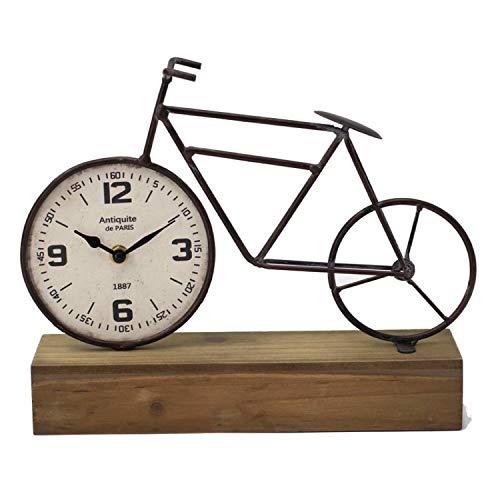 Vidal Regalos Reloj Sobremesa Bicicleta en Peana Madera 33 cm