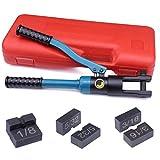 Muzata Custom Cable Railing Hydraulic Hand Crimper,Swage Tool 60Ton for 1/8
