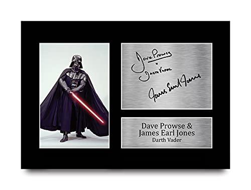 HWC Trading Star Wars Darth Vader A4 Senza Cornice Firmato Regalo Visualizzazione delle Foto Print Immagine Autografo Stampato per Dave Prowse & James Earl Jones Gli Appassionati di Cinema