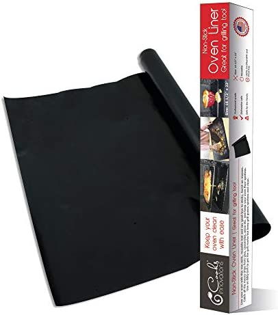 Cooks Innovations Black Non Stick Oven Liner 16 5x23 Heavy Duty Sheet to Catch Spills in Convection product image
