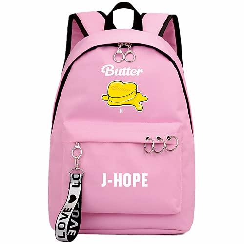 Mochila Kpop Single Song Butter, utilizada para soporte J-HOPE RM SUGA JIMIN Band Fans Gift College Bag School Bag Laptop Bag